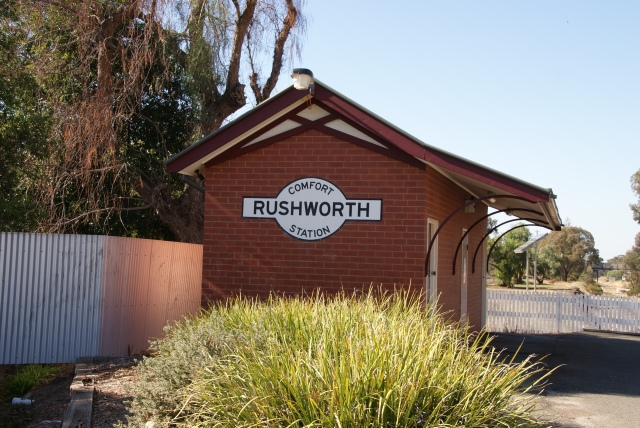 Not the Railway Station - the Comfort Station at Rushworth