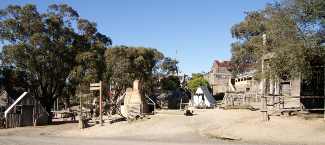 Inside the entry to Sovereign Hill