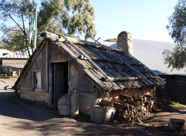 Recreation of a building on the Goldfields