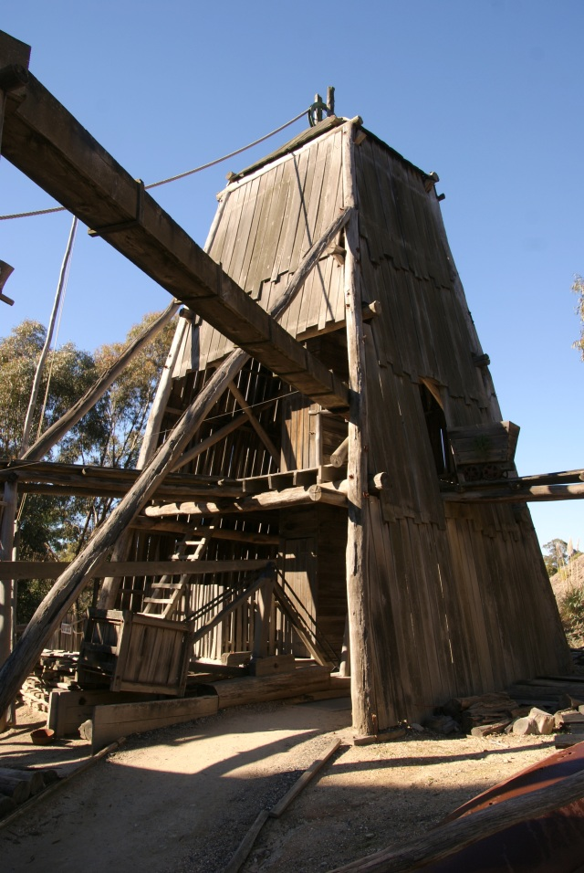 Part of the structure of the Red Hill Mine