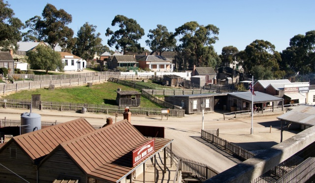 View of Sovereign Hill structures from the tower