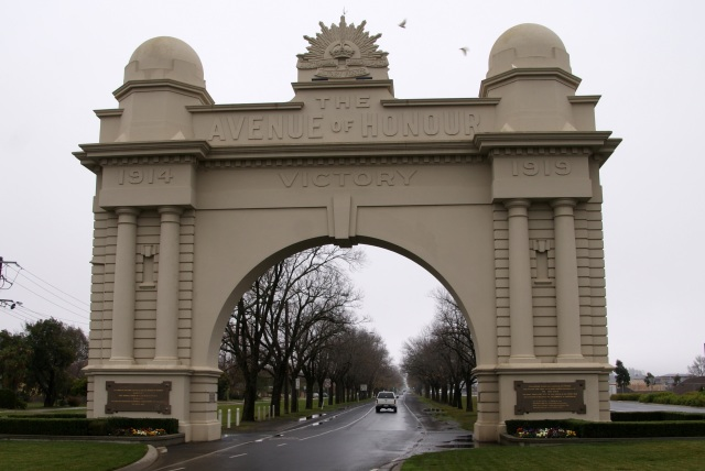 The Arch of Victory in Ballarat