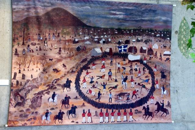 Wall hanging depicting the Eureka Stockade battle in Ballarat