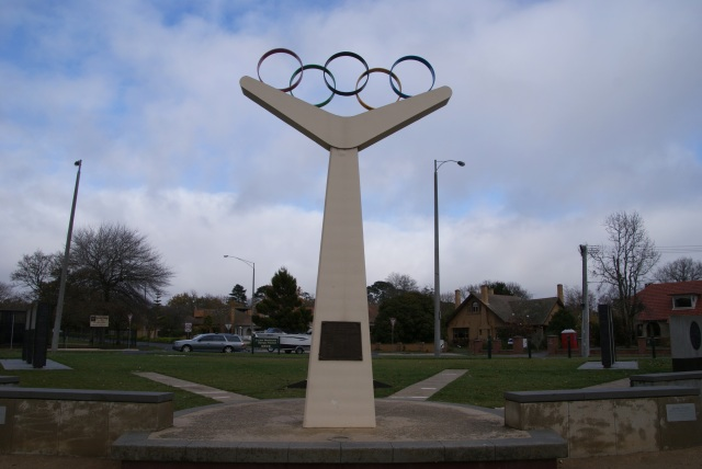 Olympic Rings at Lake Wendouree commemorating the use of the site at the 1956 Olympics.