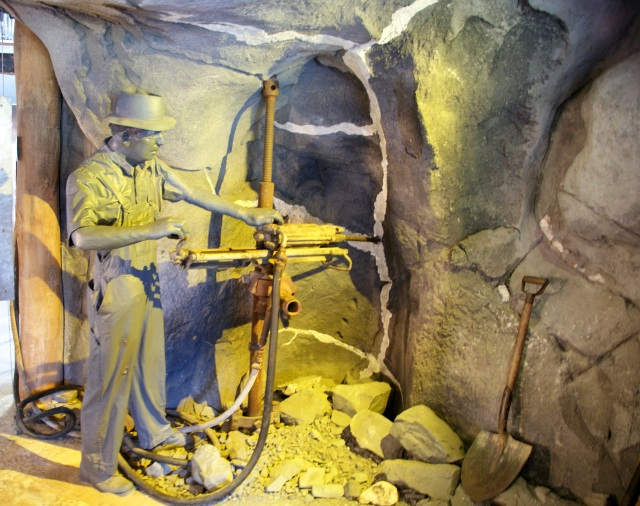 Display at Central Deborah Mine in Bendigo