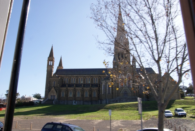 Church in Bendigo from the tram