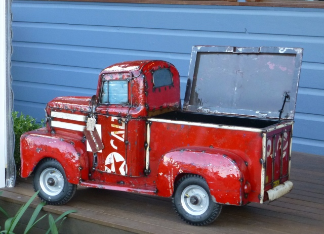 You can have this hand made truck ice box for $600