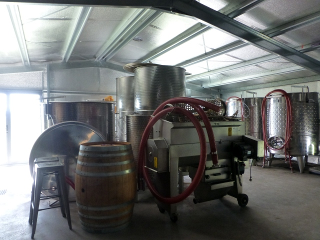 Where the wine is made at Short Sheep