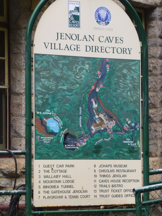 Village Directory at Jenolan Caves