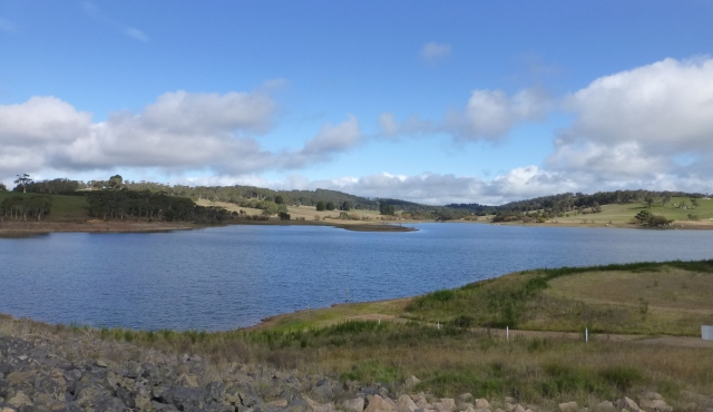 A view across Lake Oberon