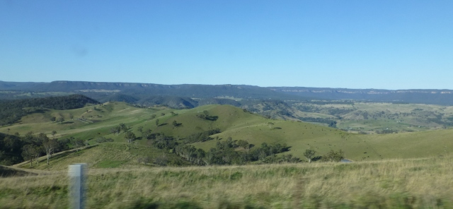 View from Jenolan Caves Road driving from Oberon
