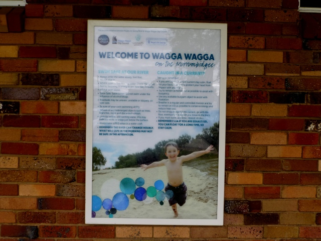 Welcome to the city at the Visitor Information Centre Wagga Wagga