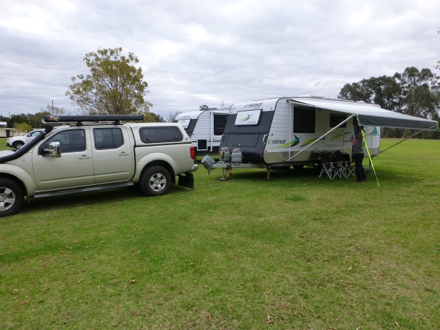 Our camp site at Wagga Wagga