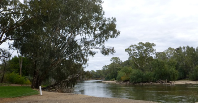 Along the river near the caravan park