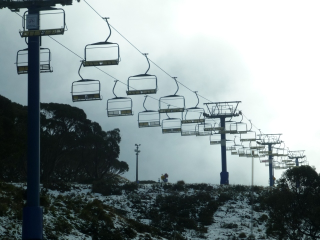 Silent ski lift at Mt Hotham