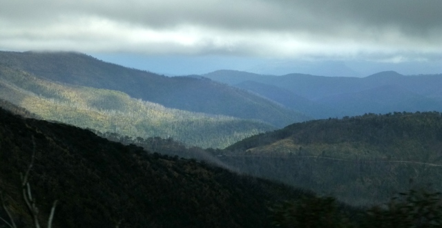 The view on the way back down from Mt Hotham