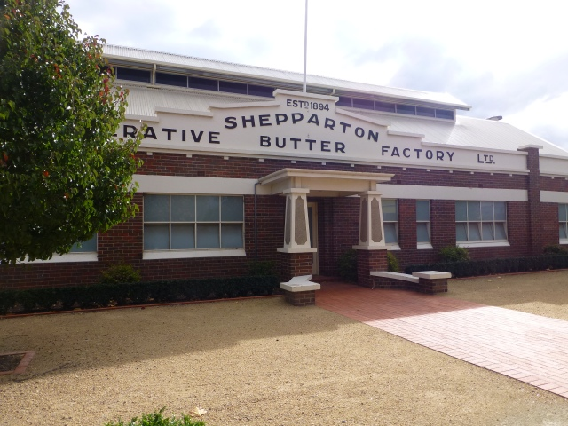 Old Butter Factory building in Shepparton - now a retail and residential complex