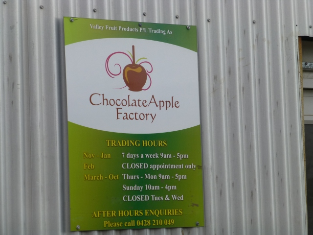 Is it a packing shed? No its the Chocolate Apple Factory