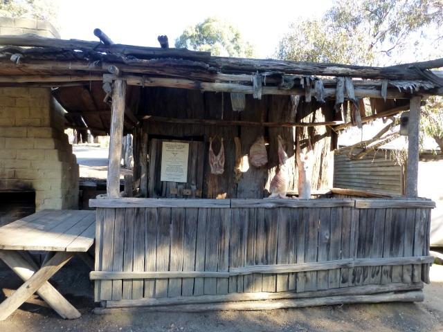 Replica of gold fields butcher shop