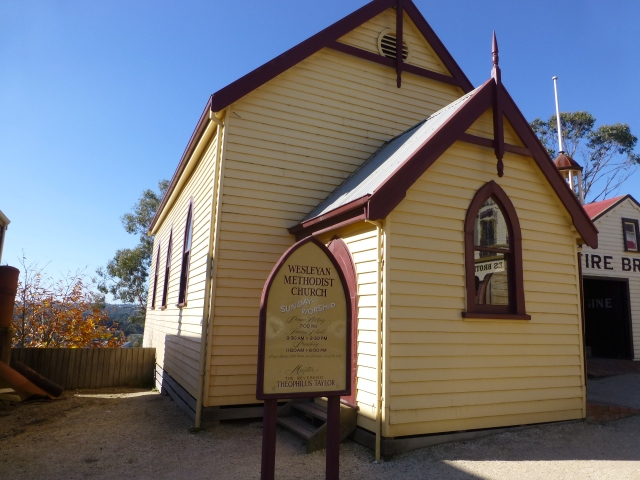 Old church at Sovereign Hill