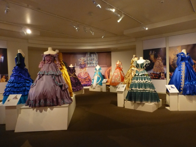 Lovely dresses on display inside the Gold Museum