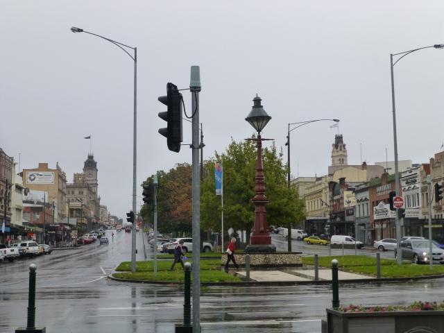 Sturt Street Ballarat - wet and cold