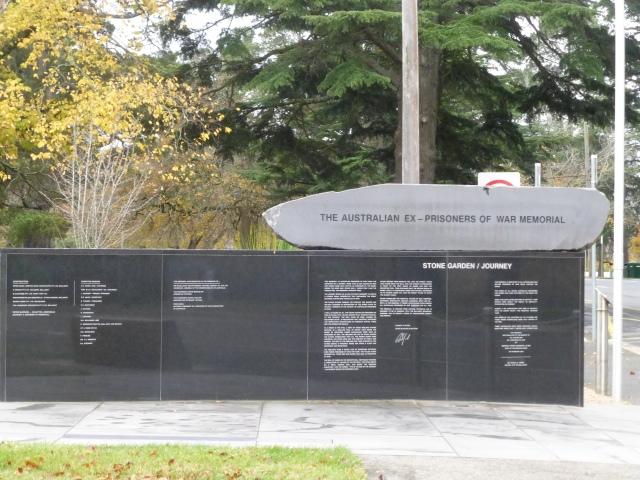 The Ex POW Memorial at Ballarat