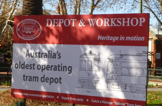 Tram Depot and Workshop in Bendigo