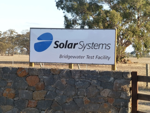 Solar System test facility at Bridgewater