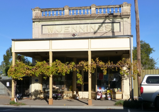 Hardware shop at Inglewood - real grape vines growing across the front of the shop