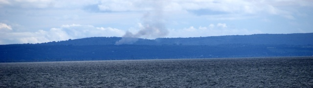 A fire burns on Cape Naturaliste