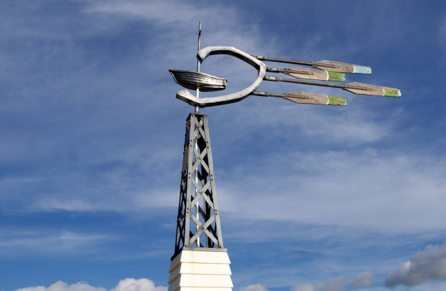One of the different wind pointers on the Busselton Jetty