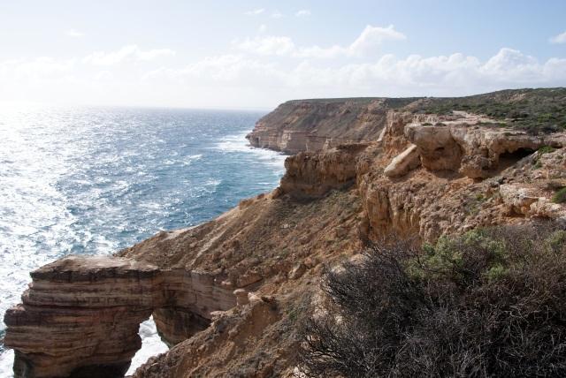 Coastal Cliffs at Kalbarri - Natural Bridge