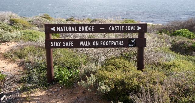 Sign at the Coastal Cliffs at Kalbarri