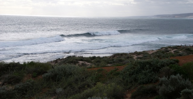 Waves at the mouth of the Murchison River