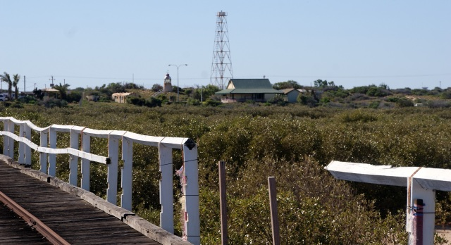 Looking back to the Lighthouse Keeper's Cottage at Carnarvon