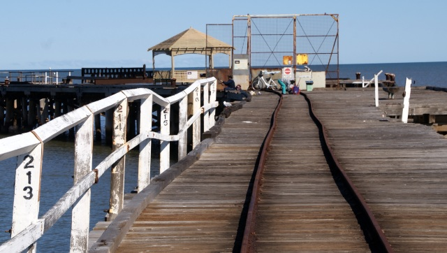 Nearing the end of the One Mile Jetty at Carnarvon