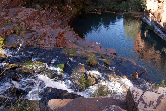 Looking down Fortescue Falls