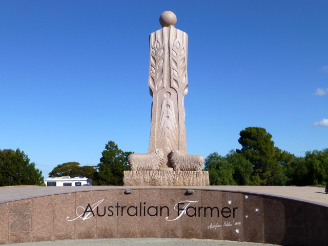 The Australian Farmer - Granite Statue