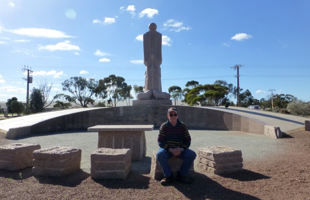 The Australian Farmer - Granite Statue and an Australian Man