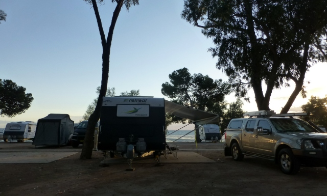 Early morning at our site at Streaky Bay
