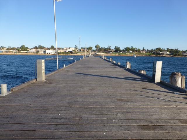 Looking back along the Jetty at Streaky Bay