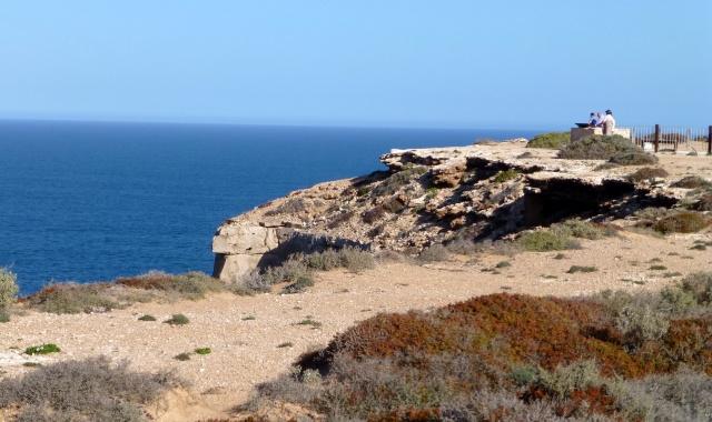 The view from Lookout 1 - rugged coastline