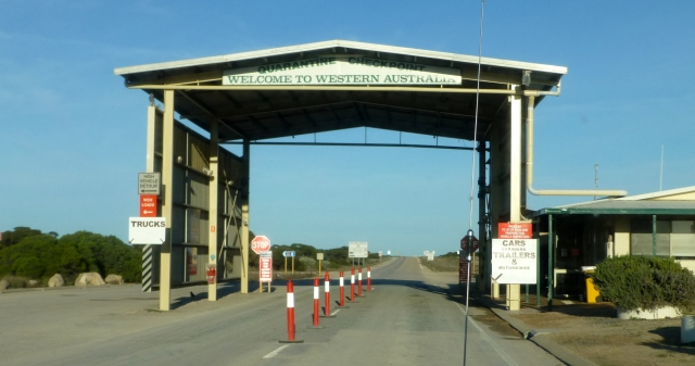The Quarantine Checkpoint at the Western Australia border
