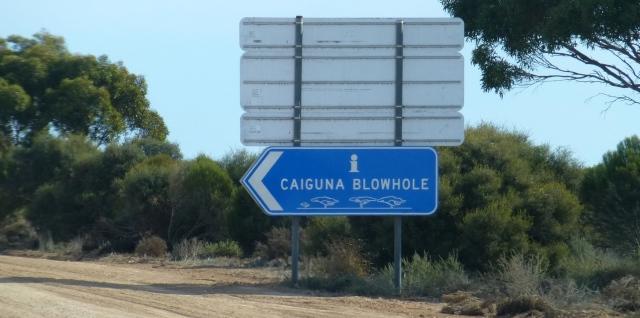 Turnoff to Caiguna Blowhole