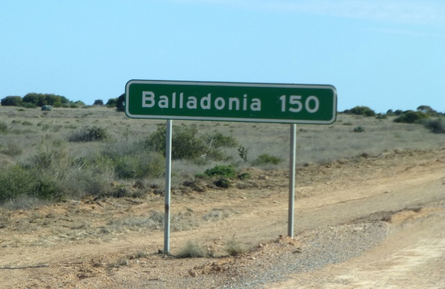 We decided to press on to Balladonia