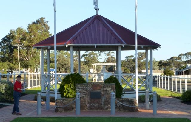 Rotunda in Memorial Park in Norseman