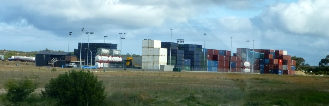 Very large container depot at Esperance