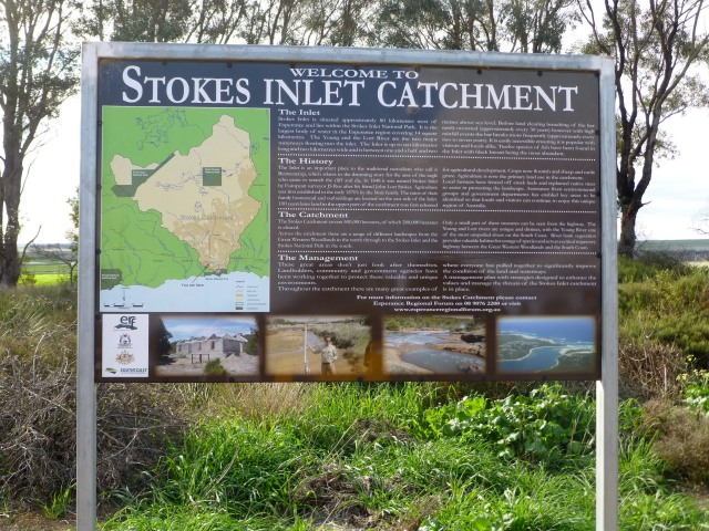 Catchment sign at the rest area where we had lunch