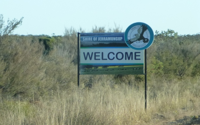 We are entering the Shire of Jerramungup